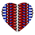 The Patriotic Flag Ornament (Heart)  Front