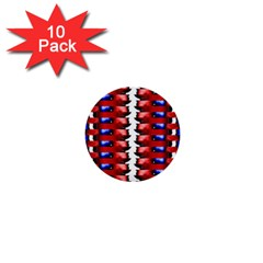 The Patriotic Flag 1  Mini Buttons (10 Pack)  by SugaPlumsEmporium