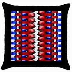 The Patriotic Flag Throw Pillow Case (black) by SugaPlumsEmporium