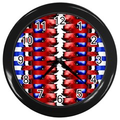 The Patriotic Flag Wall Clocks (black) by SugaPlumsEmporium