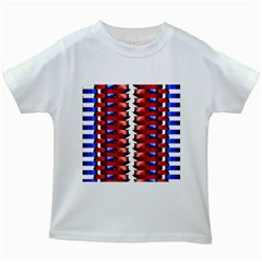 The Patriotic Flag Kids White T Shirts by SugaPlumsEmporium