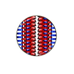 The Patriotic Flag Hat Clip Ball Marker (4 Pack)