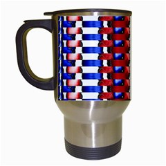 The Patriotic Flag Travel Mugs (white) by SugaPlumsEmporium