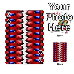 The Patriotic Flag Playing Cards 54 Designs  by SugaPlumsEmporium