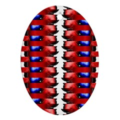 The Patriotic Flag Oval Ornament (two Sides)
