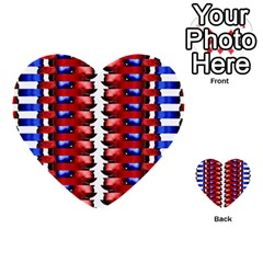 The Patriotic Flag Multi Purpose Cards (heart)  by SugaPlumsEmporium