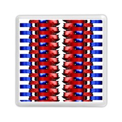 The Patriotic Flag Memory Card Reader (square)  by SugaPlumsEmporium