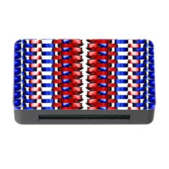 The Patriotic Flag Memory Card Reader With Cf by SugaPlumsEmporium