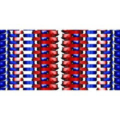 The Patriotic Flag You Are Invited 3d Greeting Card (8x4)  by SugaPlumsEmporium