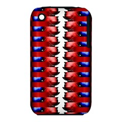The Patriotic Flag Apple Iphone 3g/3gs Hardshell Case (pc+silicone) by SugaPlumsEmporium