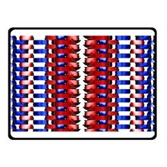 The Patriotic Flag Double Sided Fleece Blanket (small)  by SugaPlumsEmporium