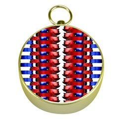 The Patriotic Flag Gold Compasses by SugaPlumsEmporium