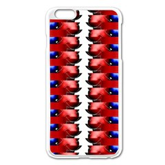 The Patriotic Flag Apple Iphone 6 Plus/6s Plus Enamel White Case by SugaPlumsEmporium