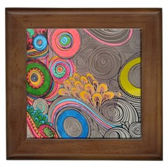 Rainbow Passion Framed Tiles by SugaPlumsEmporium