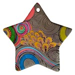Rainbow Passion Ornament (Star)  Front