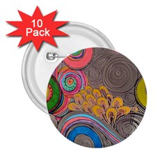 Rainbow Passion 2 25  Buttons (10 Pack)  by SugaPlumsEmporium