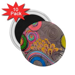 Rainbow Passion 2 25  Magnets (10 Pack)  by SugaPlumsEmporium