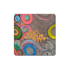Rainbow Passion Square Magnet by SugaPlumsEmporium