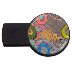 Rainbow Passion Usb Flash Drive Round (2 Gb)  by SugaPlumsEmporium