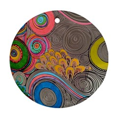 Rainbow Passion Round Ornament (two Sides)  by SugaPlumsEmporium