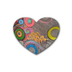 Rainbow Passion Heart Coaster (4 Pack)  by SugaPlumsEmporium