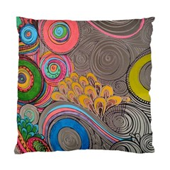 Rainbow Passion Standard Cushion Case (two Sides) by SugaPlumsEmporium