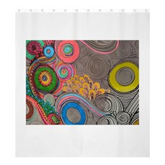 Rainbow Passion Shower Curtain 66  X 72  (large)  by SugaPlumsEmporium
