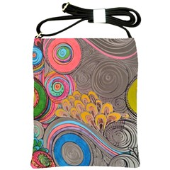 Rainbow Passion Shoulder Sling Bags by SugaPlumsEmporium