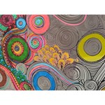 Rainbow Passion Circle Bottom 3D Greeting Card (7x5)  Back