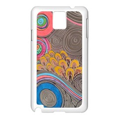 Rainbow Passion Samsung Galaxy Note 3 N9005 Case (white) by SugaPlumsEmporium