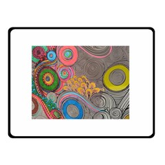 Rainbow Passion Double Sided Fleece Blanket (small)  by SugaPlumsEmporium