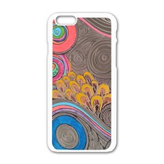 Rainbow Passion Apple Iphone 6/6s White Enamel Case by SugaPlumsEmporium