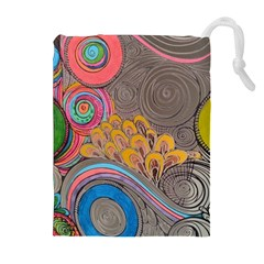 Rainbow Passion Drawstring Pouches (extra Large) by SugaPlumsEmporium