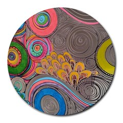 Rainbow Passion Round Mousepads by SugaPlumsEmporium