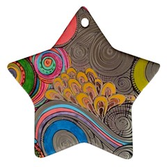 Rainbow Passion Ornament (star)  by SugaPlumsEmporium