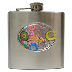 Rainbow Passion Hip Flask (6 Oz) by SugaPlumsEmporium