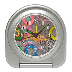 Rainbow Passion Travel Alarm Clocks by SugaPlumsEmporium