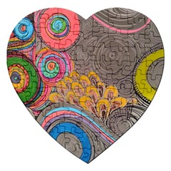 Rainbow Passion Jigsaw Puzzle (heart) by SugaPlumsEmporium