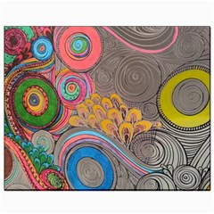 Rainbow Passion Canvas 8  X 10  by SugaPlumsEmporium