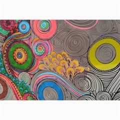 Rainbow Passion Canvas 24  X 36  by SugaPlumsEmporium