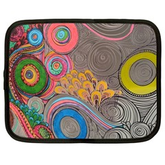 Rainbow Passion Netbook Case (large) by SugaPlumsEmporium