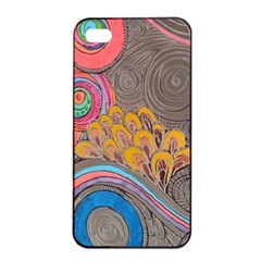 Rainbow Passion Apple Iphone 4/4s Seamless Case (black) by SugaPlumsEmporium