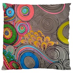 Rainbow Passion Large Cushion Case (one Side) by SugaPlumsEmporium