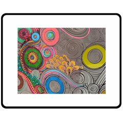 Rainbow Passion Double Sided Fleece Blanket (medium)  by SugaPlumsEmporium