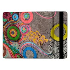 Rainbow Passion Samsung Galaxy Tab Pro 12 2  Flip Case by SugaPlumsEmporium