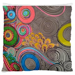 Rainbow Passion Standard Flano Cushion Case (one Side) by SugaPlumsEmporium