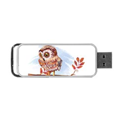 Owl Portable Usb Flash (one Side) by TastefulDesigns
