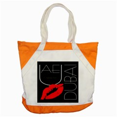 Greetings From Dubai  Red Lipstick Kiss Black Postcard Uae United Arab Emirates Accent Tote Bag