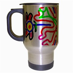 The Flower Pods Travel Mug (silver Gray) by SugaPlumsEmporium