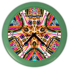 Ethnic You Collecition Color Wall Clocks by SugaPlumsEmporium